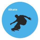 iSkate Classic Round Sticker