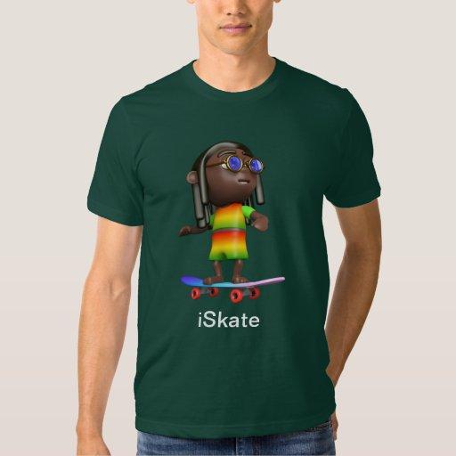 iSkate Skating Rasta T Shirts