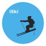 iSki Classic Round Sticker