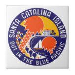 Isla 1935 de Santa Catalina Azulejo
