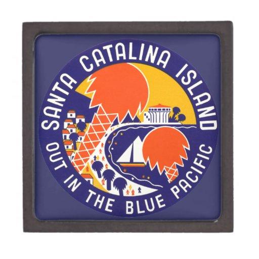 Isla 1935 de Santa Catalina Cajas De Recuerdo De Calidad