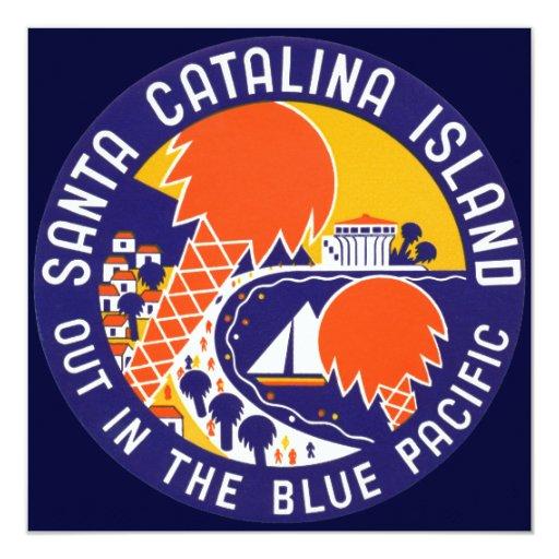 """Isla 1935 de Santa Catalina Invitación 5.25"""" X 5.25"""""""