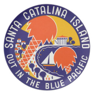 Isla 1935 de Santa Catalina Platos De Comidas