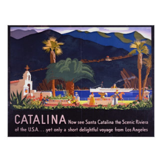 Isla 1935 de Santa Catalina Póster
