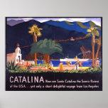 Isla 1935 de Santa Catalina Posters