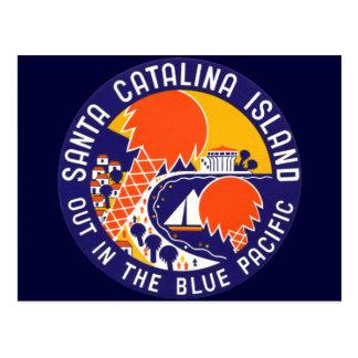 Isla 1935 de Santa Catalina Tarjetas Postales