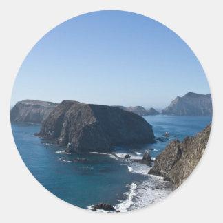 Isla 2 de Anacapa Pegatina Redonda