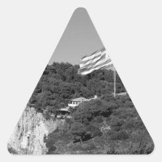 Isla 2 de B&W Zakynthos Pegatina Triangular