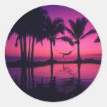 Isla 2 del paraíso etiqueta redonda