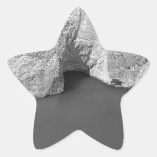 Isla 3 de B&W Zakynthos Pegatina En Forma De Estrella