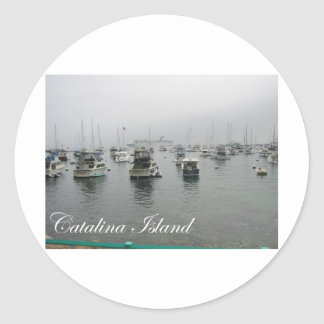 Isla 4 de Catalina Pegatina Redonda