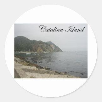 Isla 5 de Catalina Pegatina Redonda