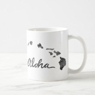 Isla apenada de la hawaiana taza básica blanca