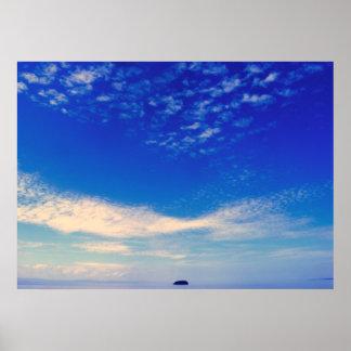 Isla azul poster