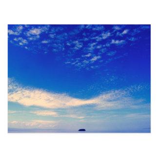 Isla azul tarjeta postal