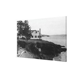 Isla Caf� de la esperanza de Fahlen en las islas d Impresión En Lienzo