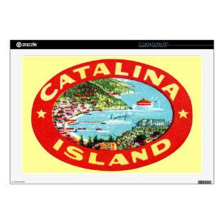 Isla California de Catalina del vintage Calcomanías Para Portátiles