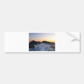 Isla Capri en la puesta del sol Pegatina De Parachoque