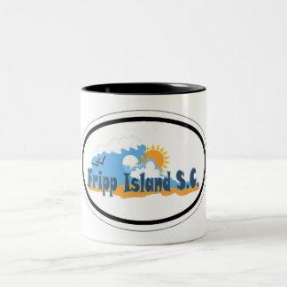 Isla Carolina del Sur de Fripp. Tazas De Café