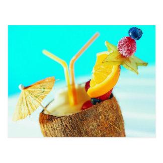 Isla con sabor a fruta Refreshement Tarjetas Postales