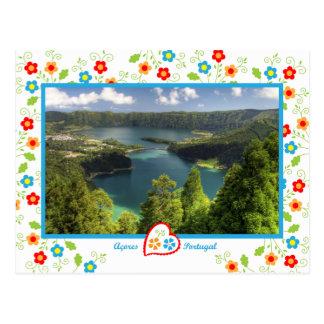 Isla de Açores - la laguna legendaria Tarjeta Postal