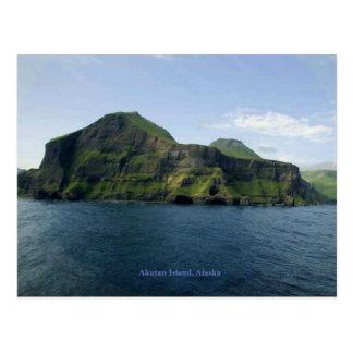 Isla de Akutan Tarjeta Postal