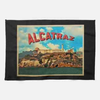Isla de Alcatraz del vintage Toallas De Cocina