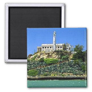 Isla de Alcatraz Imán Cuadrado