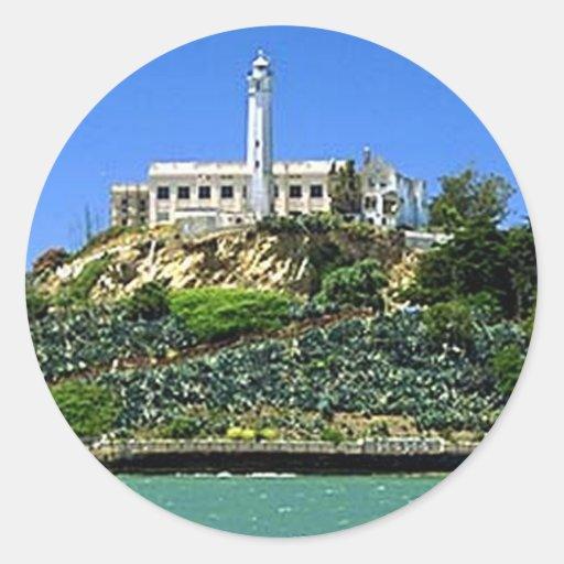 Isla de Alcatraz Pegatina Redonda