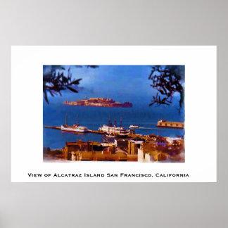 Isla de Alcatraz San Francisco, California Póster