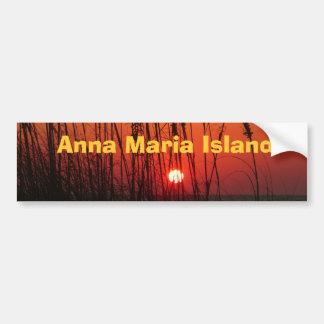 Isla de Ana Maria Pegatina De Parachoque
