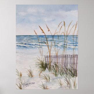 Isla de Ana Maria de la playa de Bradenton Posters