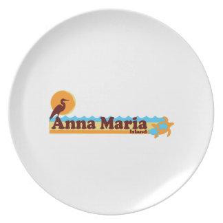 Isla de Ana Maria - diseño de la playa Platos Para Fiestas