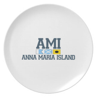 Isla de Ana Maria - diseño del equipo universitari Plato Para Fiesta
