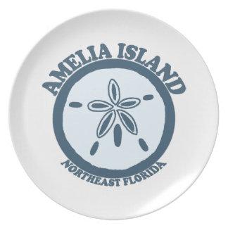 Isla de Ana Maria - dólar de arena Plato De Comida