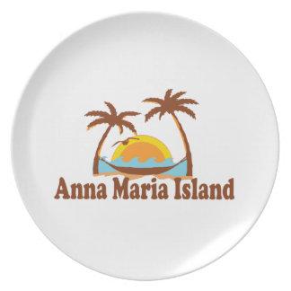 Isla de Ana Maria Platos Para Fiestas