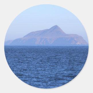 Isla de Anacapa Etiqueta Redonda