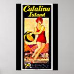 Isla de Arte-Catalina del viaje del Poster-Vintage