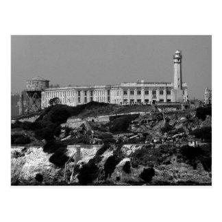 Isla de B&W Alcatraz Tarjetas Postales