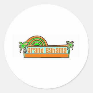 Isla de Bahama magnífica Pegatina Redonda