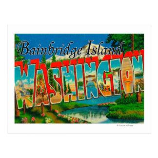 Isla de Bainbridge, Washington Tarjeta Postal