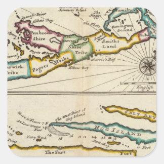 Isla de Bermudas parte de la isla de Providence Calcomanía Cuadradas
