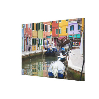 Isla de Burano, Burano, Italia. 2 coloridos Impresiones De Lienzo