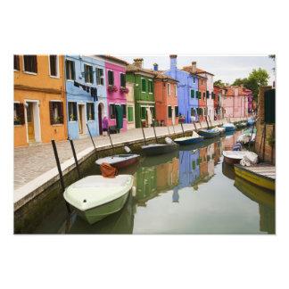 Isla de Burano, Burano, Italia. 4 coloridos Fotografía
