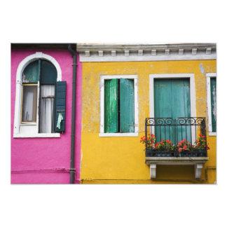 Isla de Burano, Burano, Italia. 5 coloridos Fotografía
