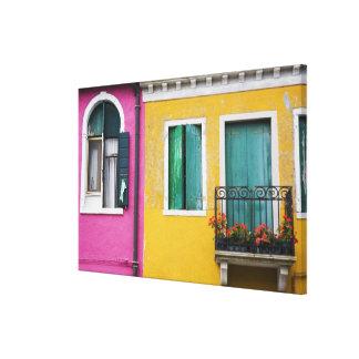 Isla de Burano, Burano, Italia. 5 coloridos Lona Estirada Galerias