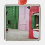 Isla de Burano, Burano, Italia. Burano colorido 2 Adorno Para Reyes