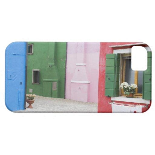 Isla de Burano, Burano, Italia. Burano colorido 2 iPhone 5 Cobertura