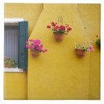 Isla de Burano, Burano, Italia. Burano colorido 3 Teja