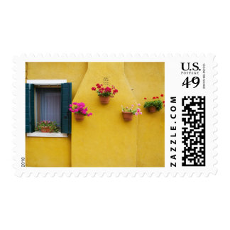 Isla de Burano, Burano, Italia. Burano colorido 3 Timbre Postal